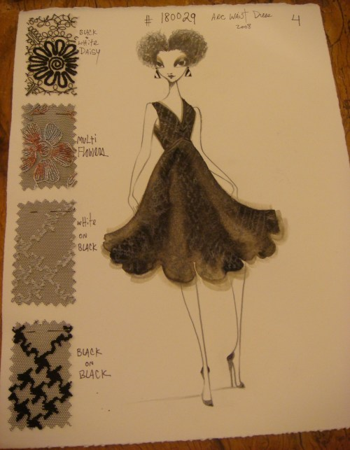 Ruben Toldeo's Sketch of Isabel Toledo's Design 3