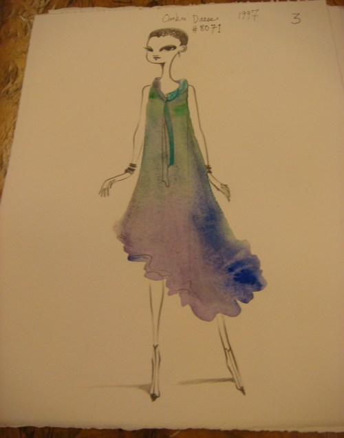 Ruben Toledo Sketch of Isabel Toldeo's Design 2