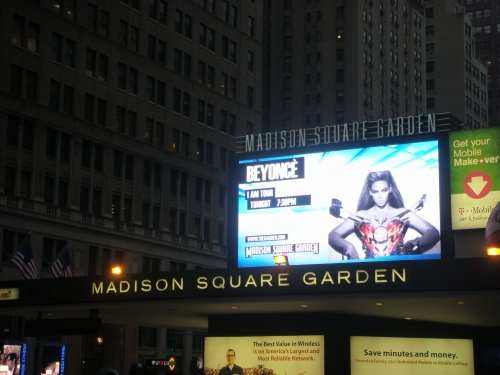 Madison Square Garden & Beyonce sign