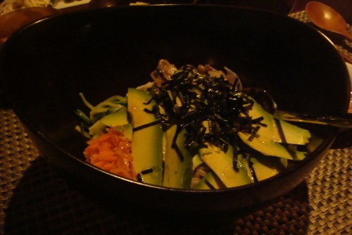 Organic Avocado Bibimbap with Brown Rice at HanGawi
