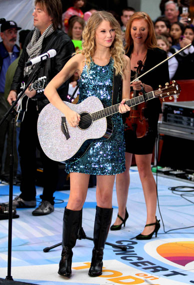 Taylor Swift Boots. Taylor Swift sequin dress