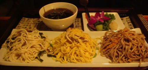 Trio of Noodles at HanGawi