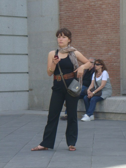 Faux Jumper outside of the Prado Museum