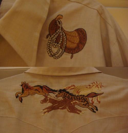 Vintage Men's Western Shirt Details