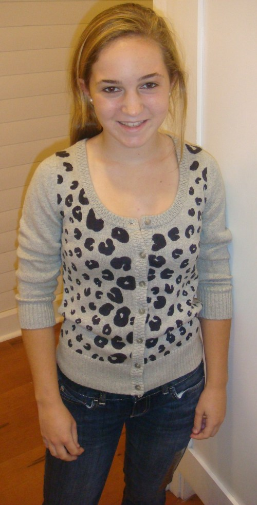 American Eagle Leopard Print Sweater