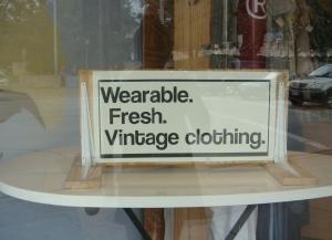 Cream Vintage sign